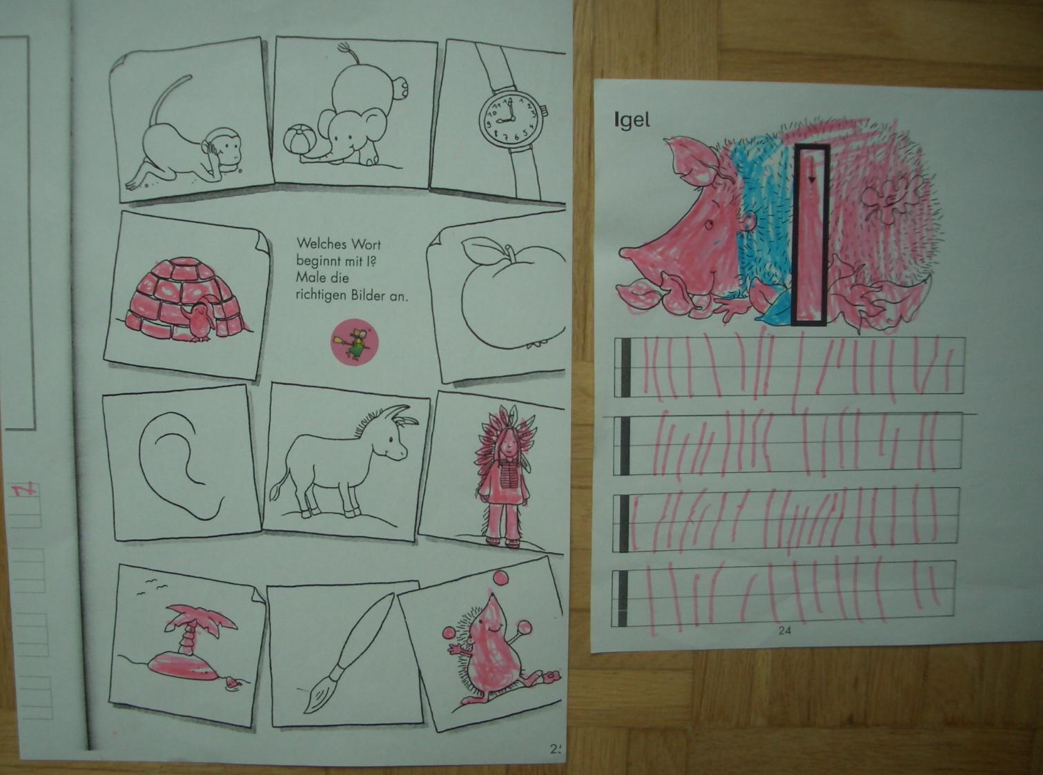 Eine Dreijährige will schreiben | IHVO